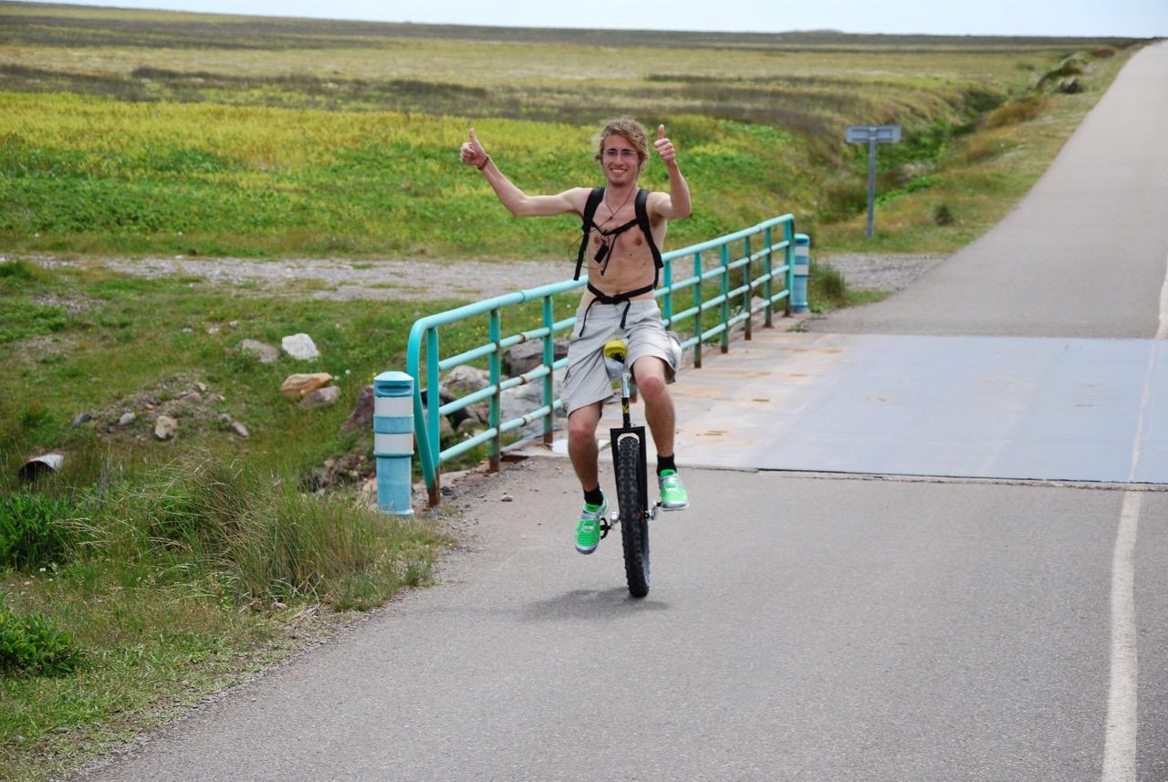 25km en monocycle...