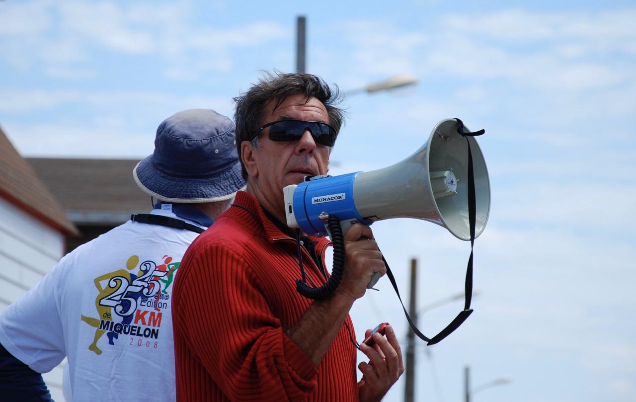 Gérard Grignon, président d'honneur du comité organisateur et fondateur des 25 km de Miquelon...