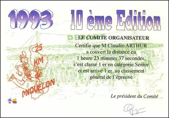 Diplôme 1993