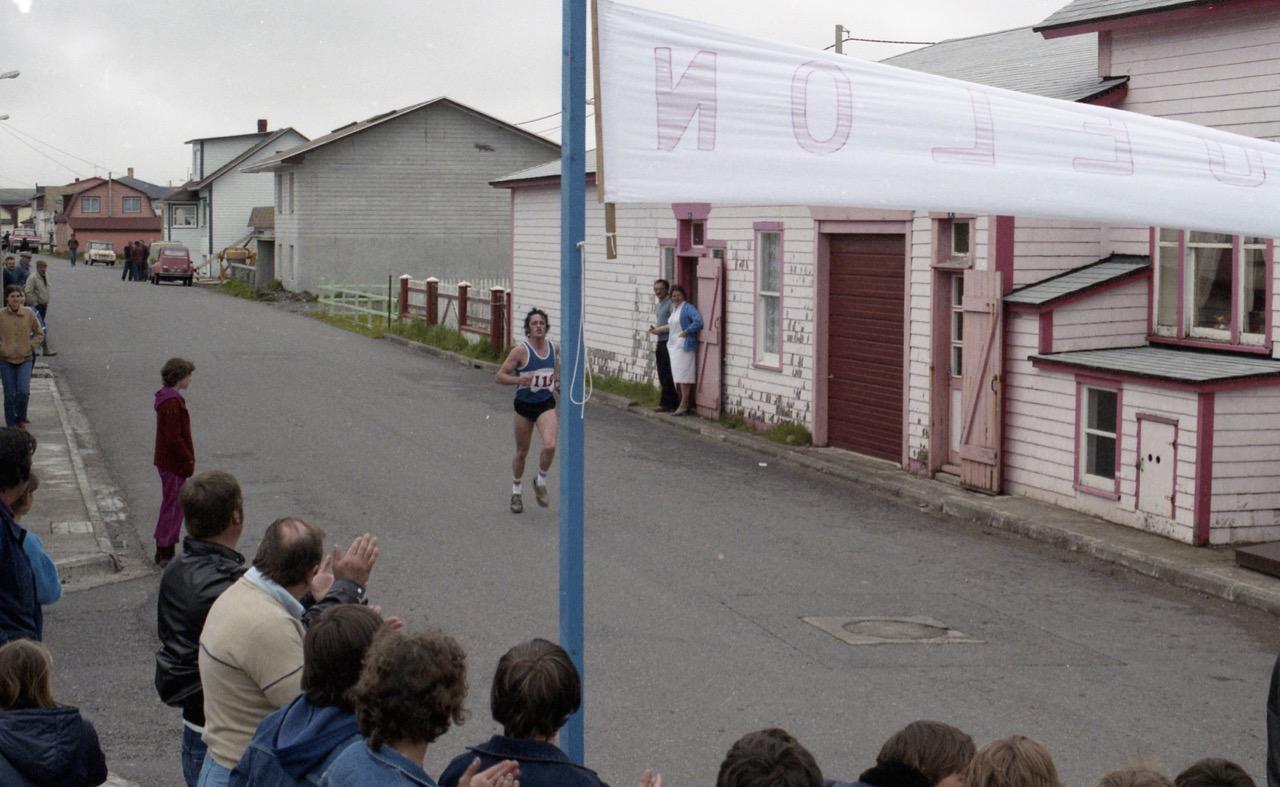 1984 - Arrivée du premier vainqueur des 25km...