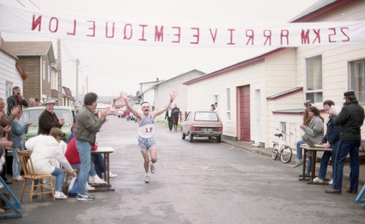 1985 - Deuxième vainqueur des 25km de Miquelon...